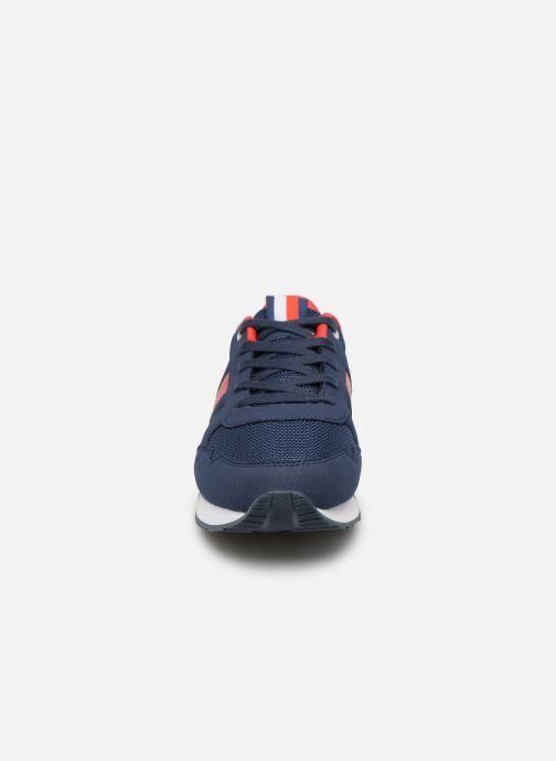 Baskets Tommy Hilfiger Low Cut Lace-Up Sneaker Bleu vue portées chaussures