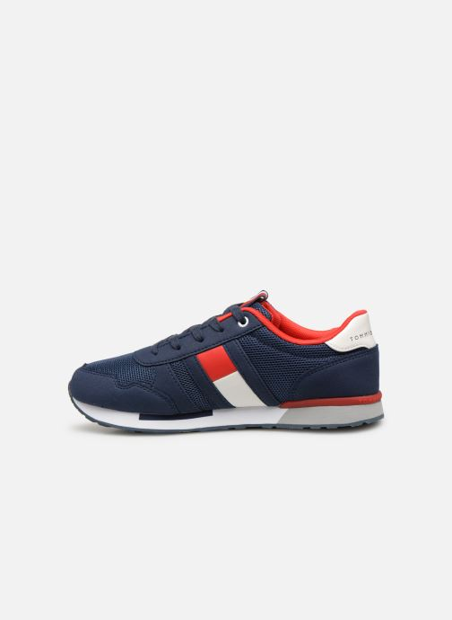 Sneakers Tommy Hilfiger Low Cut Lace-Up Sneaker Blauw voorkant