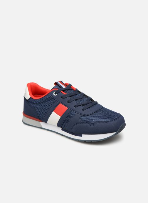 Deportivas Tommy Hilfiger Low Cut Lace-Up Sneaker Azul vista de detalle / par