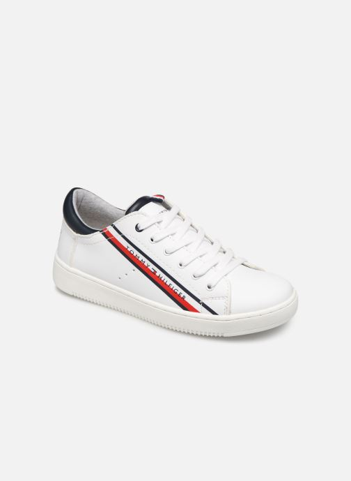 Baskets Tommy Hilfiger Low Cut Lace-Up Sneaker Blanc vue détail/paire