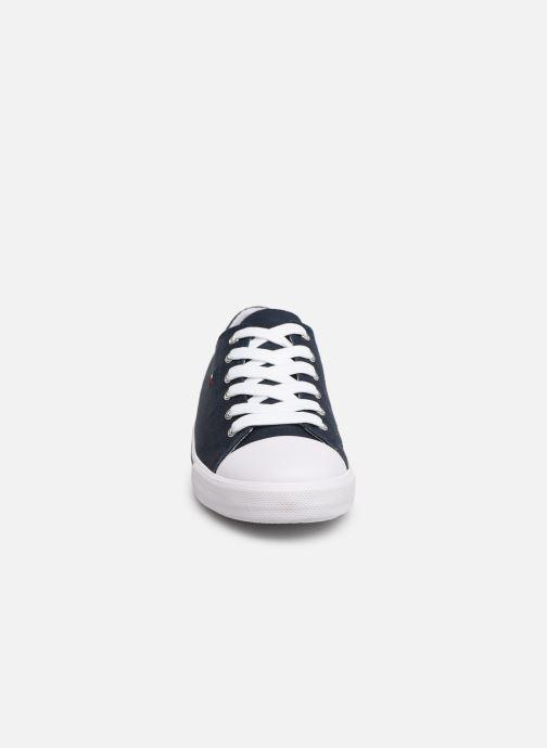 Baskets Tommy Hilfiger Low Cut Lace-Up Sneaker 2 Bleu vue portées chaussures