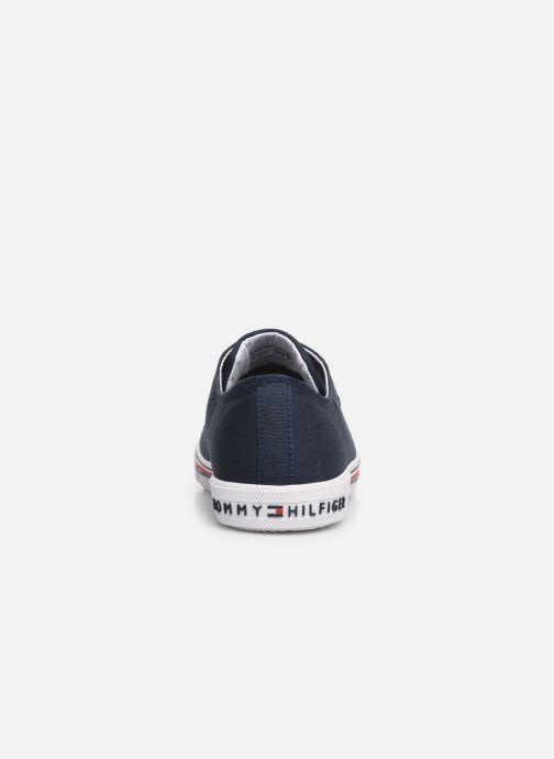 Deportivas Tommy Hilfiger Low Cut Lace-Up Sneaker 2 Azul vista lateral derecha