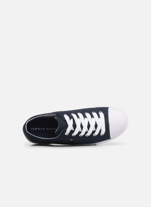 Baskets Tommy Hilfiger Low Cut Lace-Up Sneaker 2 Bleu vue gauche