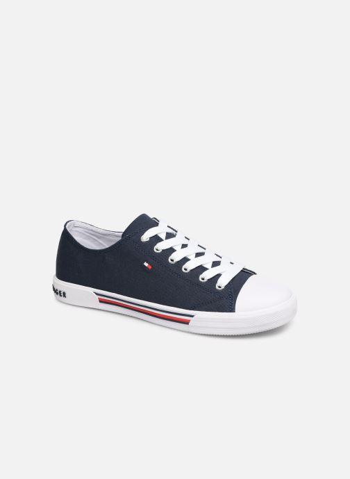 Deportivas Tommy Hilfiger Low Cut Lace-Up Sneaker 2 Azul vista de detalle / par