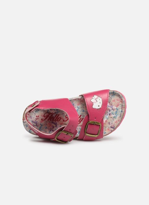 Sandals Hello Kitty HK UGENIE C Pink view from the left
