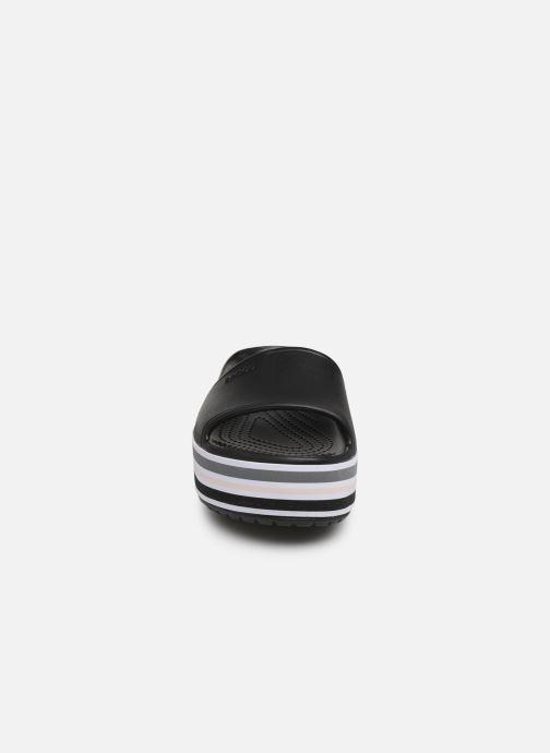 Zoccoli Crocs CB Platform Bld Color Slide Nero modello indossato