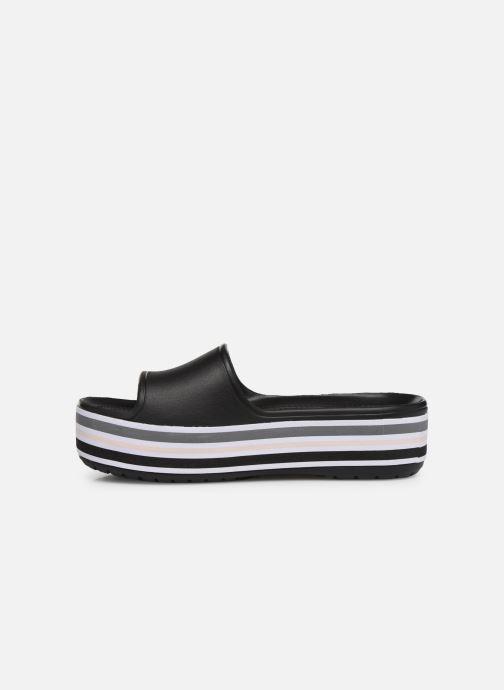 Zuecos Crocs CB Platform Bld Color Slide Negro vista de frente