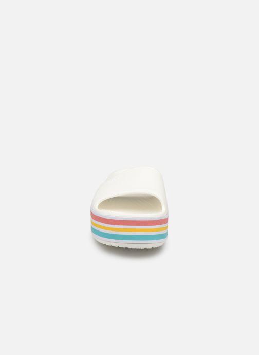 Clogs & Pantoletten Crocs CB Platform Bld Color Slide weiß schuhe getragen