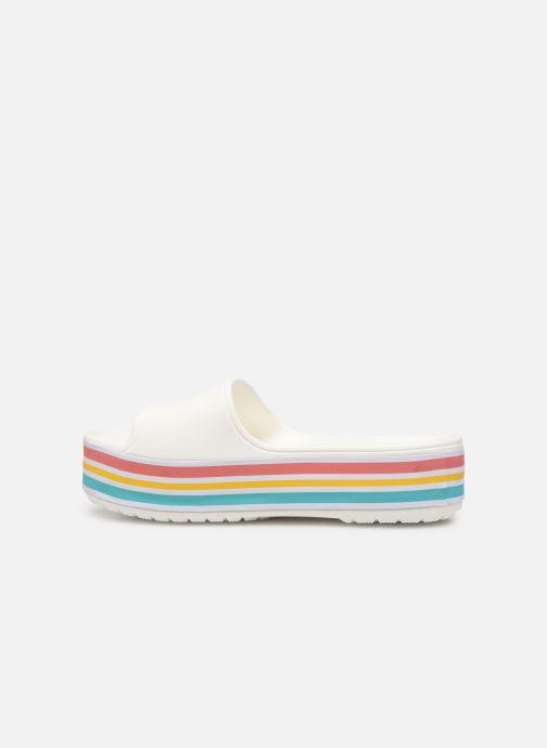 Clogs & Pantoletten Crocs CB Platform Bld Color Slide weiß ansicht von vorne