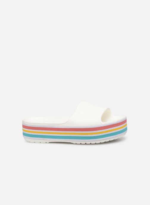 Zuecos Crocs CB Platform Bld Color Slide Blanco vistra trasera