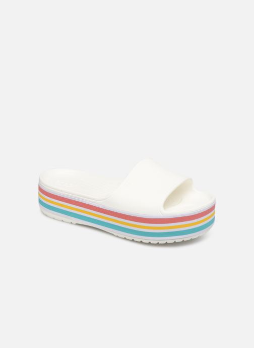 Clogs & Pantoletten Crocs CB Platform Bld Color Slide weiß detaillierte ansicht/modell