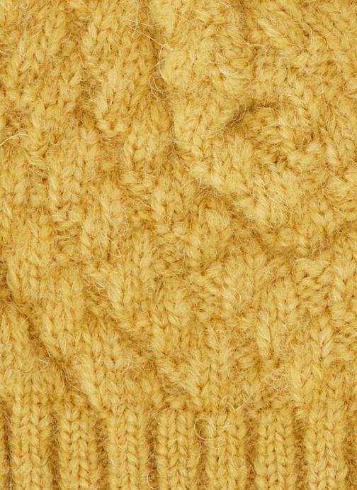 Berretto Bout'Chou BONNET TRICOT JAUNE Giallo modello indossato