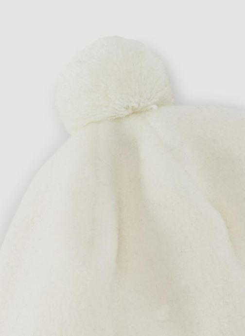 Bonnets Bout'Chou CHAPKA POLAIRE G Blanc vue portées chaussures