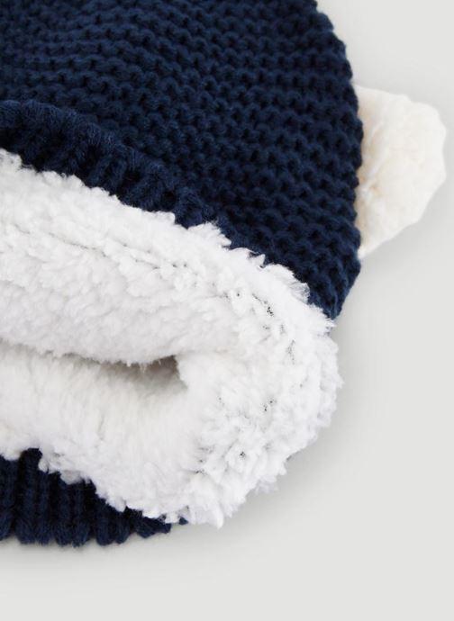 Bonnets Bout'Chou BONNET ANIMAL Bleu vue portées chaussures