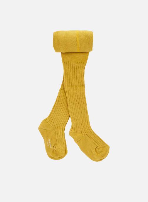 Sokken en panty's Bout'Chou COLLANT COTON COTE Geel detail