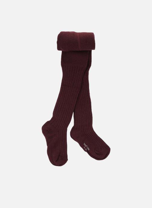Chaussettes et collants Bout'Chou COLLANT COTON COTE Violet vue détail/paire