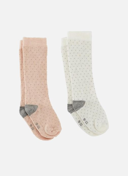 Socks & tights Bout'Chou 2 MI BAS CHAUD POIS Pink detailed view/ Pair view