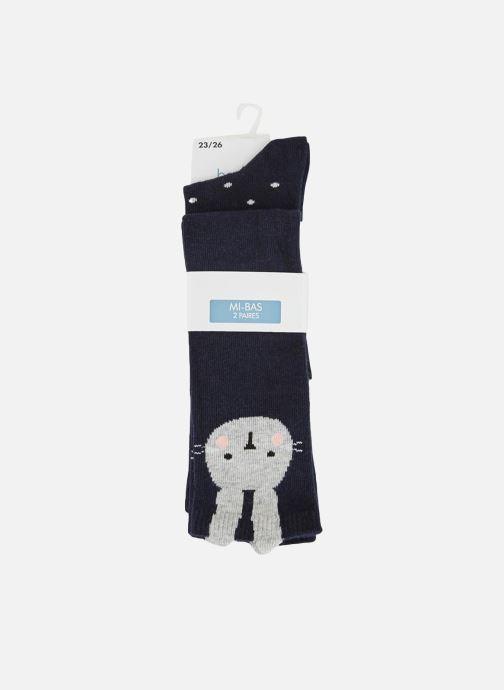 Socken & Strumpfhosen Bout'Chou Lot de 2 paires de chaussettes hautes blau detaillierte ansicht/modell