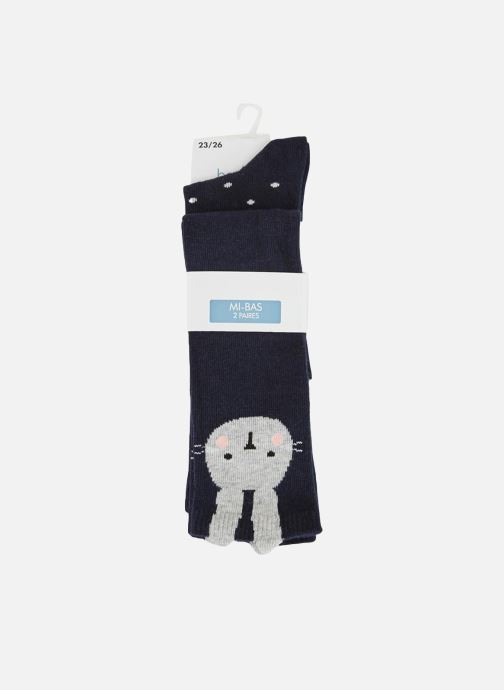 Chaussettes et collants Bout'Chou Lot de 2 paires de chaussettes hautes Bleu vue détail/paire