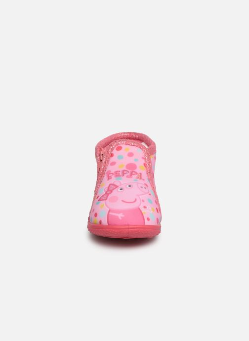 Chaussons Peppa Pig PASTILLE Rose vue portées chaussures