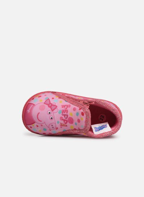 Hausschuhe Peppa Pig PASTILLE rosa ansicht von links