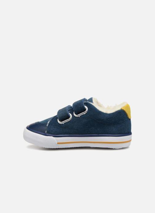 Sneaker Bout'Chou TENNIS BASSE FOURREE BEBE blau ansicht von vorne