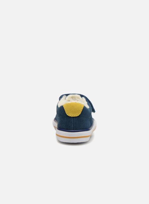 Sneaker Bout'Chou TENNIS BASSE FOURREE BEBE blau ansicht von rechts