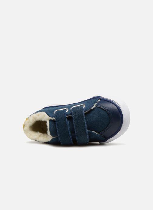 Sneaker Bout'Chou TENNIS BASSE FOURREE BEBE blau ansicht von links