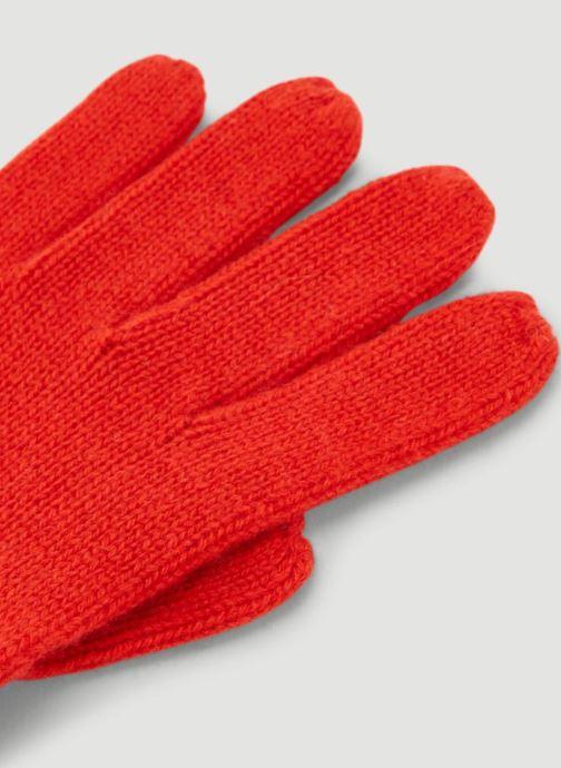 Gants Monoprix Femme GANTS CACHEMIRE UNI Rouge vue portées chaussures