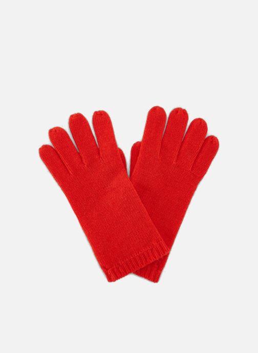 Gloves Monoprix Femme GANTS CACHEMIRE UNI Red detailed view/ Pair view