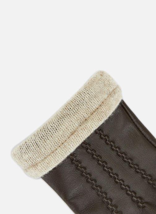 Gants Monoprix Femme GANTS CUIR NERVURE Marron vue portées chaussures