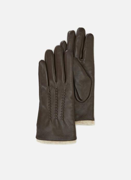 Handschoenen Monoprix Femme GANTS CUIR NERVURE Bruin detail
