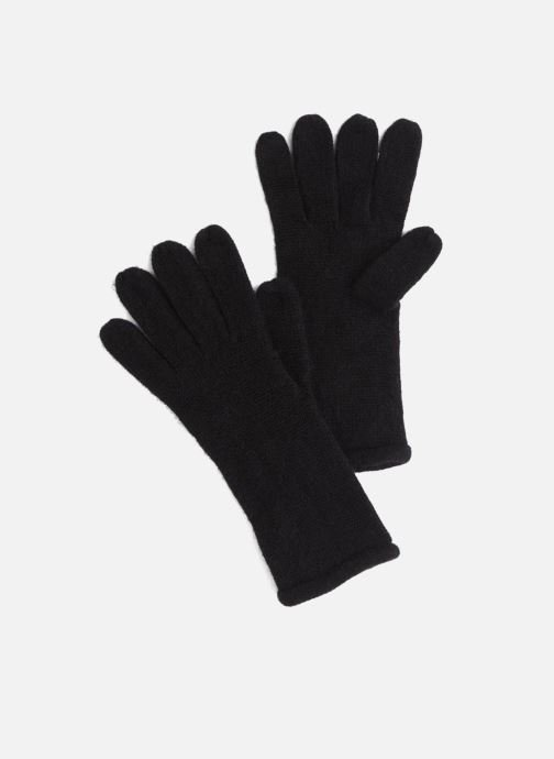 Handschoenen Monoprix Femme GANTS ACRYLIQUE UNI Zwart detail