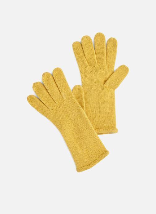 Handschoenen Monoprix Femme GANTS ACRYLIQUE UNI Geel detail