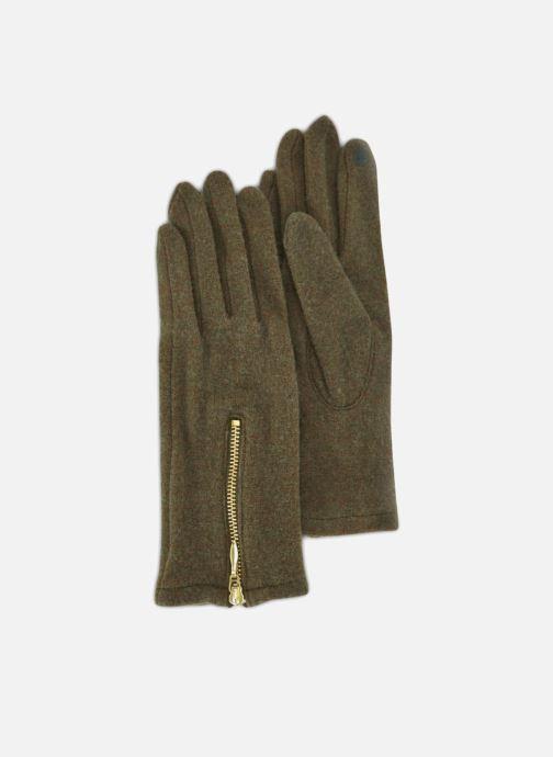 Handschoenen Monoprix Femme GANTS ZIP LAINE Groen detail