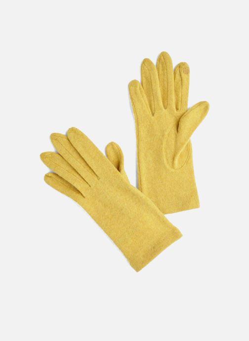 Handschoenen Monoprix Femme GANTS LAINE TACTIL Geel detail