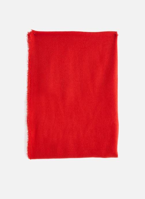 Echarpes et Foulards Monoprix Femme ECHARPE ACRYLIQUE UNIE Rouge vue portées chaussures