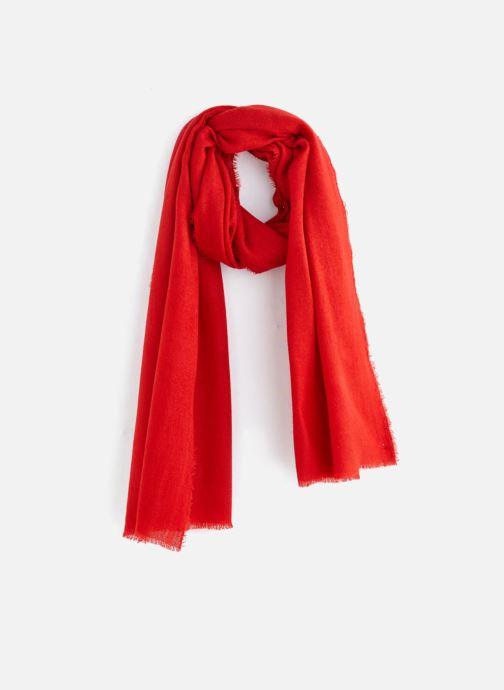 Echarpes et Foulards Monoprix Femme ECHARPE ACRYLIQUE UNIE Rouge vue  détail paire 0de16cc5d51