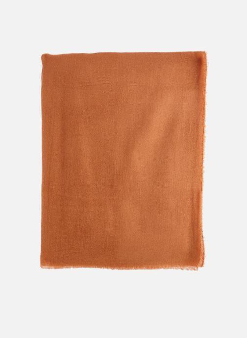 Echarpes et Foulards Monoprix Femme ECHARPE ACRYLIQUE UNIE Orange vue portées chaussures