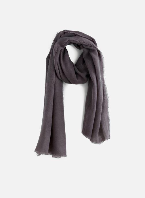 Sjaal Monoprix Femme ECHARPE ACRYLIQUE UNIE Grijs detail