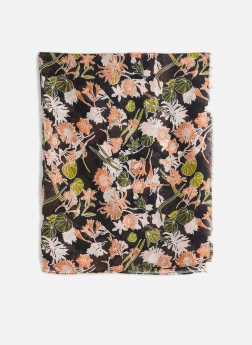 Sciarpa y foulard Monoprix Femme FOULARD IMPRIME FLEURS MARINE Grigio modello indossato