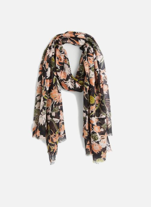 Sciarpa y foulard Monoprix Femme FOULARD IMPRIME FLEURS MARINE Grigio vedi dettaglio/paio