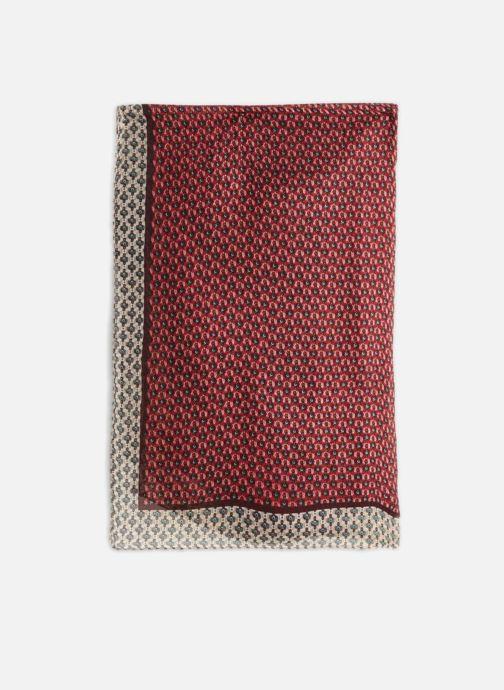 Sciarpa y foulard Monoprix Femme ETOLE GRAIN DE CAFÉ Rosso modello indossato