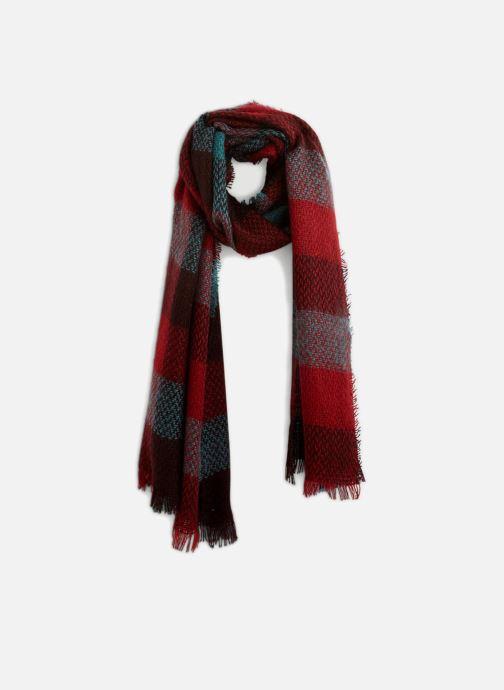 Echarpes et Foulards Monoprix Femme ETOLE ACRYLIQUE CARREAUX Rouge vue détail/paire