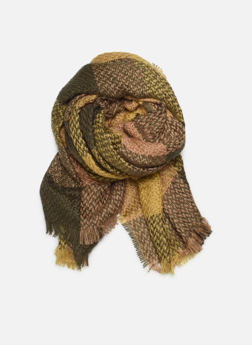 Sjaal Monoprix Femme ETOLE ACRYLIQUE CARREAUX Groen detail