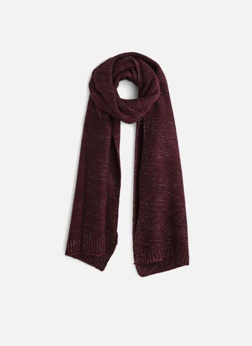 Halsduk och scarf Monoprix Femme ETOLE TRICOT Vinröd detaljerad bild på paret