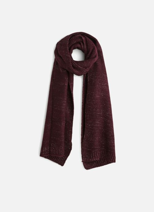 Scarf Monoprix Femme ETOLE TRICOT Burgundy detailed view/ Pair view