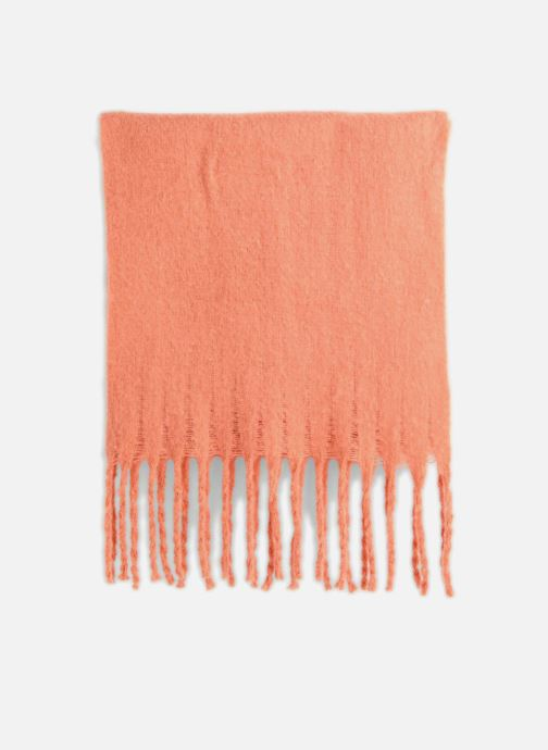 Sciarpa y foulard Monoprix Femme ECHARPE ACRYLIQUE BOURRETTE Rosa modello indossato