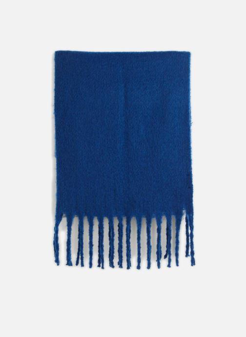 Echarpes et Foulards Monoprix Femme ECHARPE ACRYLIQUE BOURRETTE Bleu vue portées chaussures