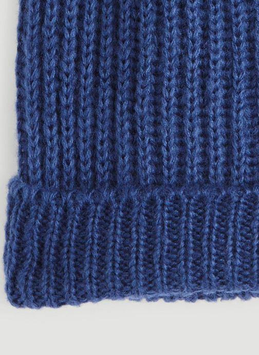 Bonnets Monoprix Femme BONNET TRICOT FIN UNI Bleu vue portées chaussures